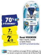 Rasoir Wilkinson Hydro 5 (via 4.97€ sur la carte fidélité)