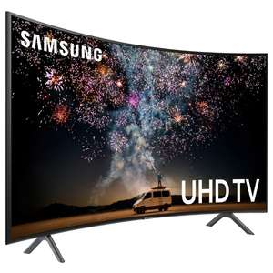 "TV 65"" Samsung UE65RU7305 (2019) - LED, Incurvé, 4K UHD, HDR 10+, PurColor, 1500 PQI, Smart TV (Via ODR de 100€)"