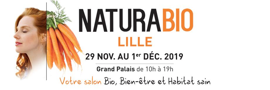 Invitation gratuite au salon NaturaBio - du 29 novembre au 1er décembre, à Lille Grand Palais (59) - Salon-Naturabio.com