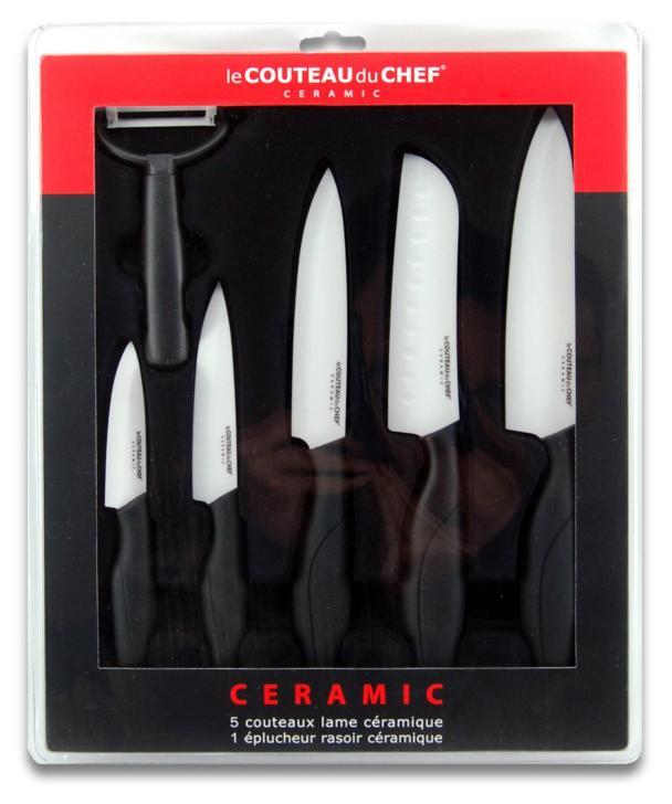 Coffret de 6 Couteaux Lame Céramique Couteau du Chef 447980