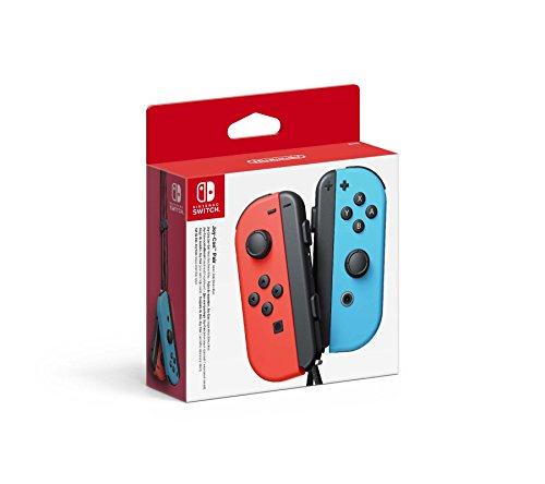 Paire de Manettes Joy-Con Bleu Néon & Rouge Néon pour Consoles Nintendo Switch (Vendeur tiers)