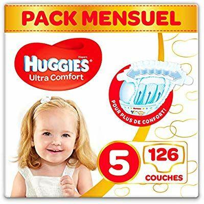 Pack de 126 Culottes Huggies Ultra Comfort pour Bébé - 11-25 kg, Taille 5