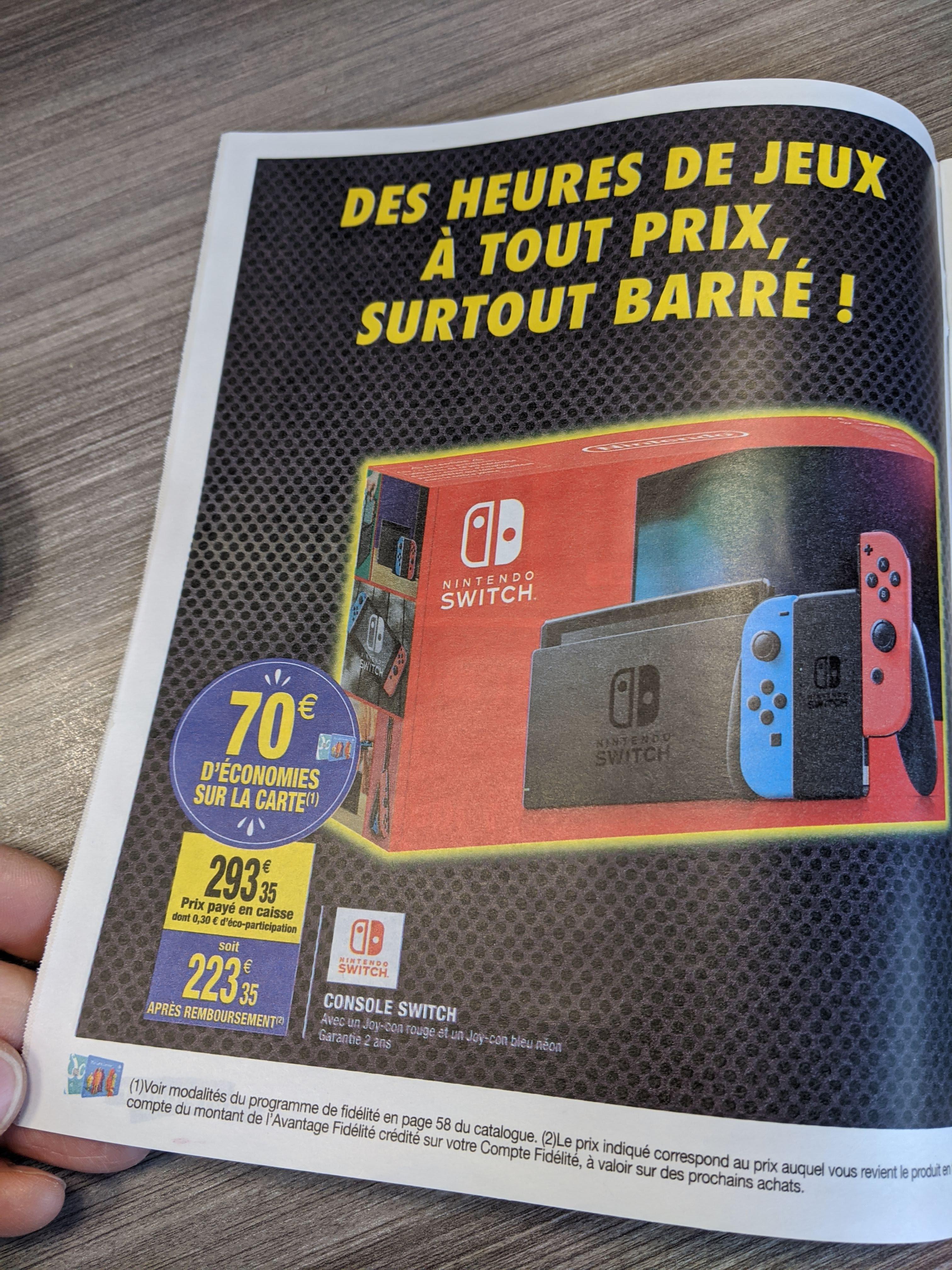 Console Nintendo Switch (Via 70€ sur la carte de fidélité)