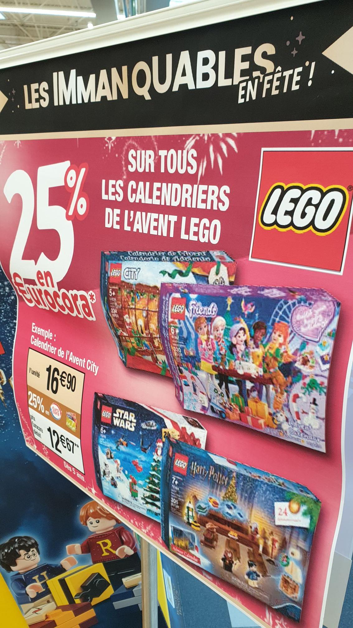 Calendrier de l'avent Lego (via 4.2€ sur la carte) - Houdemont (54)