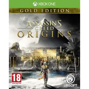 Assassin's Creed Origins Gold Edition : Jeu de base + Season Pass + pack deluxe sur Xbox One (import UK)