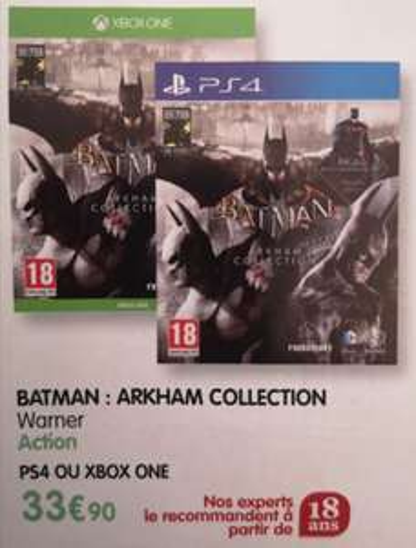 Batman : Arkham Collection sur PS4 ou Xbox One