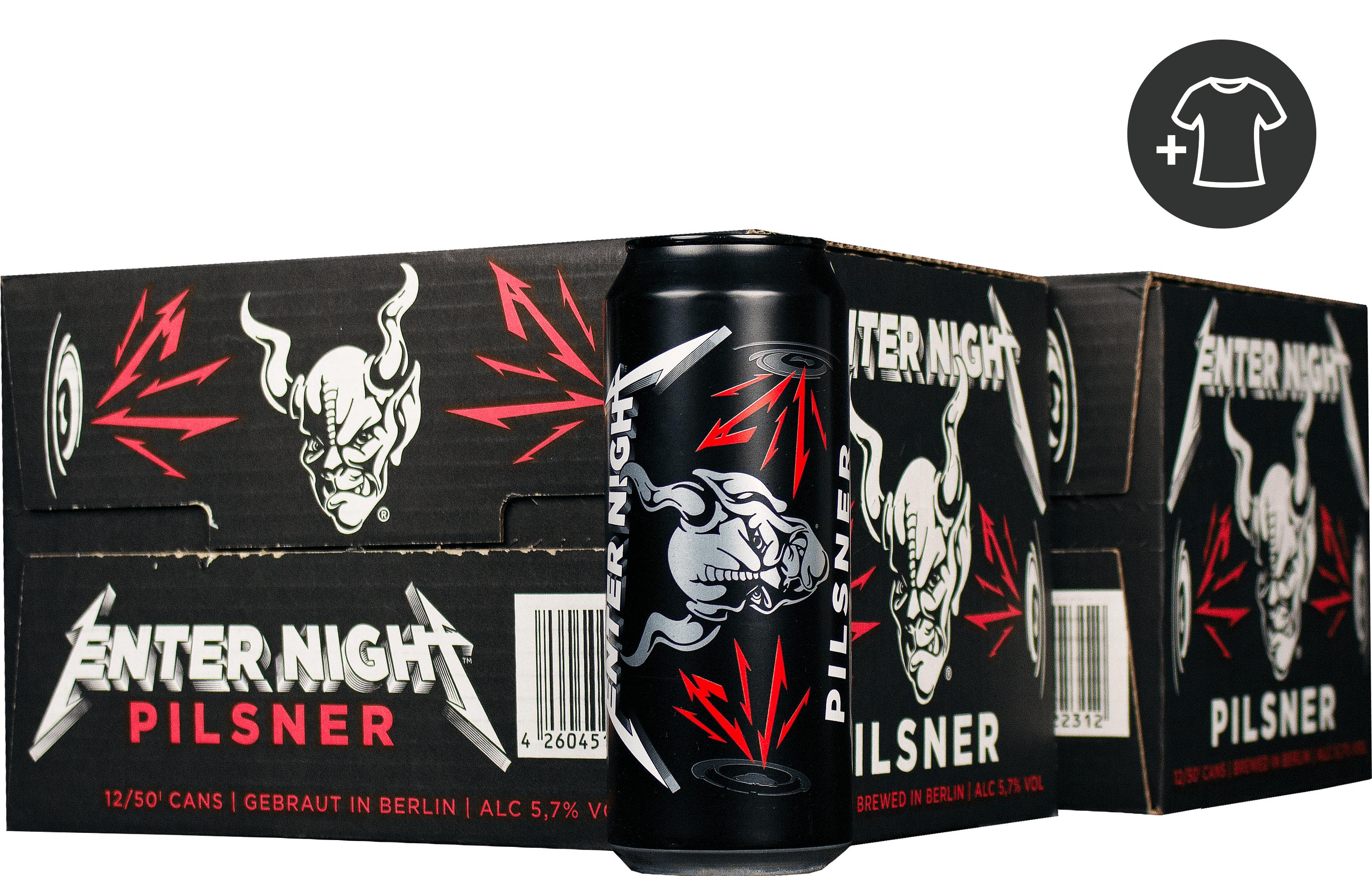 Pack de 24 bières Stone Enter Night Pilsner (24x50 cl) + tee-shirt Metallica (différentes tailles)