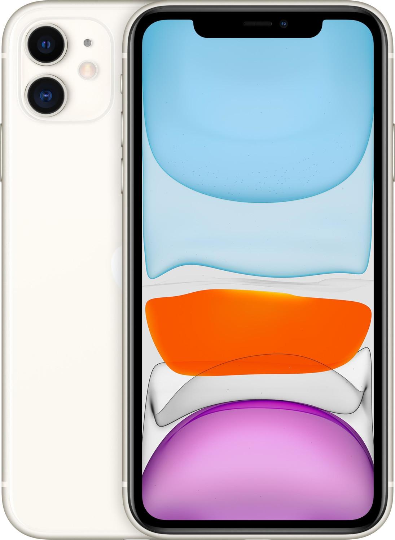 """Smartphone 6.1"""" Apple iPhone 11 (HD Retina, A13, 4 Go de RAM, 64 Go, blanc) - reconditionné"""