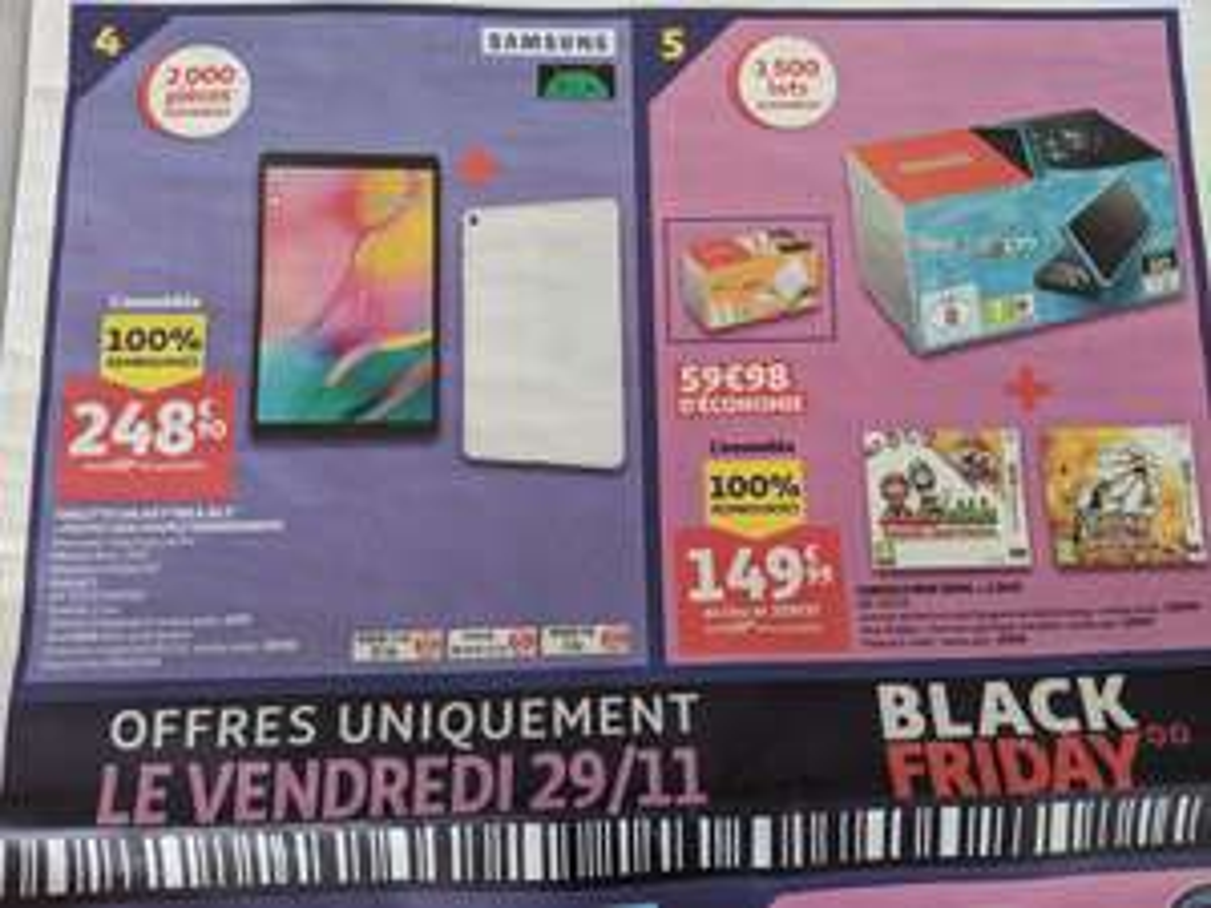 """Sélection de produits 100% remboursés en bons d'achat - Ex : tablette 10.1"""" Samsung Galaxy Tab A (32 Go) + protection (via 248.9€ en BA)"""