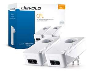 Kit de 2 prises PLC Devolo Duo+ 8120 - 2 ports, 1000 Mbp/s