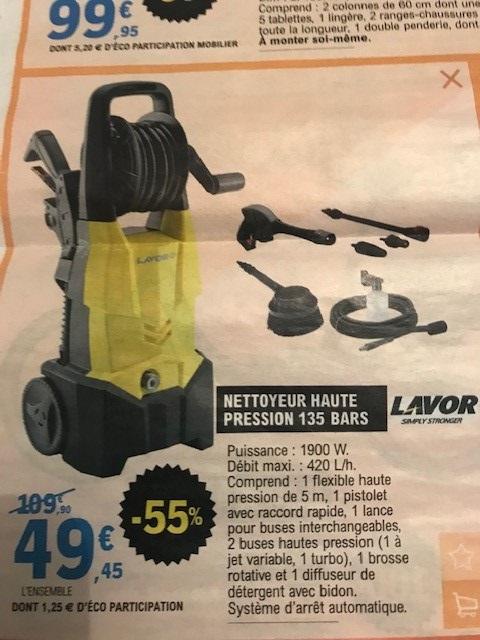Nettoyeur haute pression Lavor - 135 Bars, 1900W