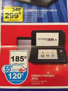 Console portable Nintendo  3DS XL  (65€ sur la carte)