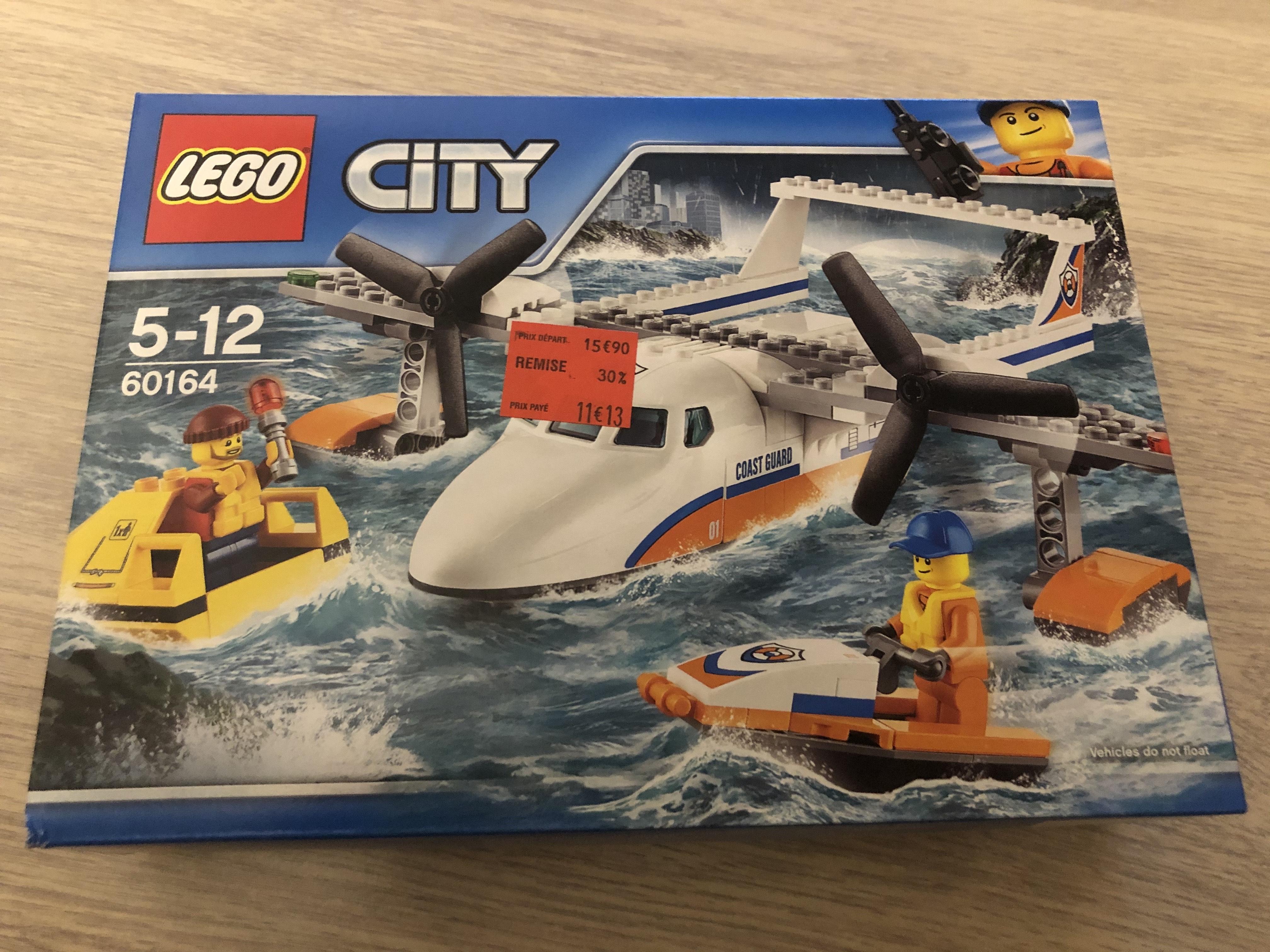 Jouet Lego City L'hydravion de secours en mer 60164 - Centre sud (72)