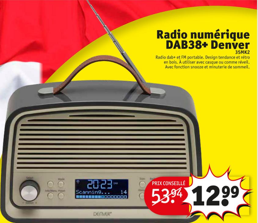 Poste de Radio numérique DAB+ Denver (Frontaliers Belgique)