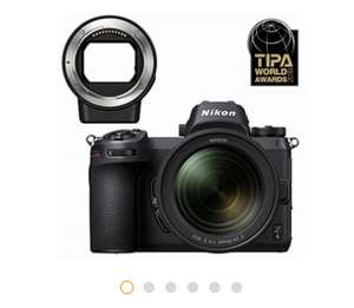 Appareil Photo Hybride Nikon Z6 + Objectif Nikkor 24-70 mm f/4 + Bague d'adaptation pour Objectifs Nikkor F
