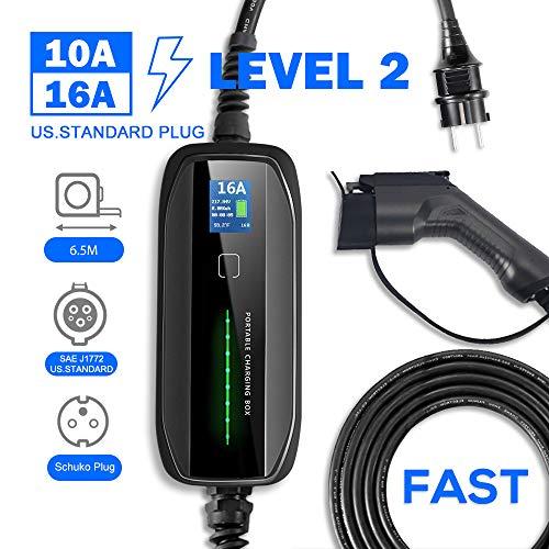 (Prime) Câble de charge 10/16A avec LCD pour véhicule électrique (type 1 ou 2) (vendeur tiers)