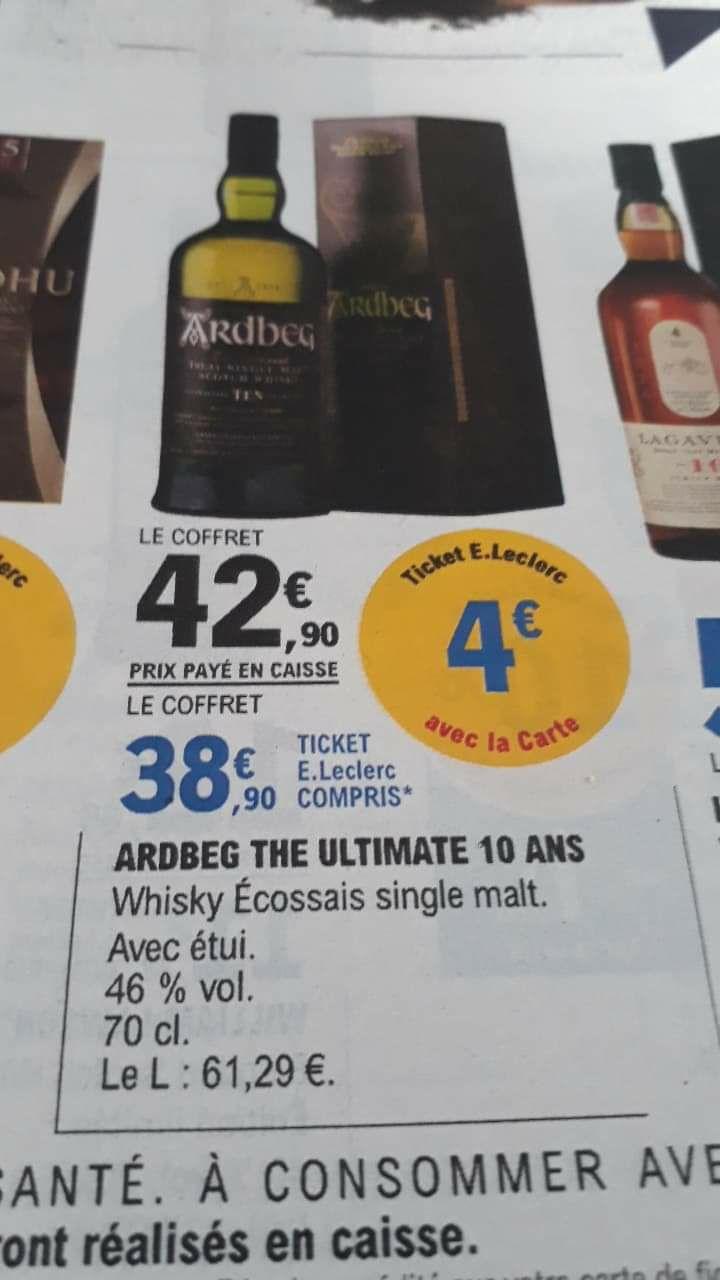 Whisky Ardbeg 10 ans - 70 cl (+4€ sur la carte fidélité)