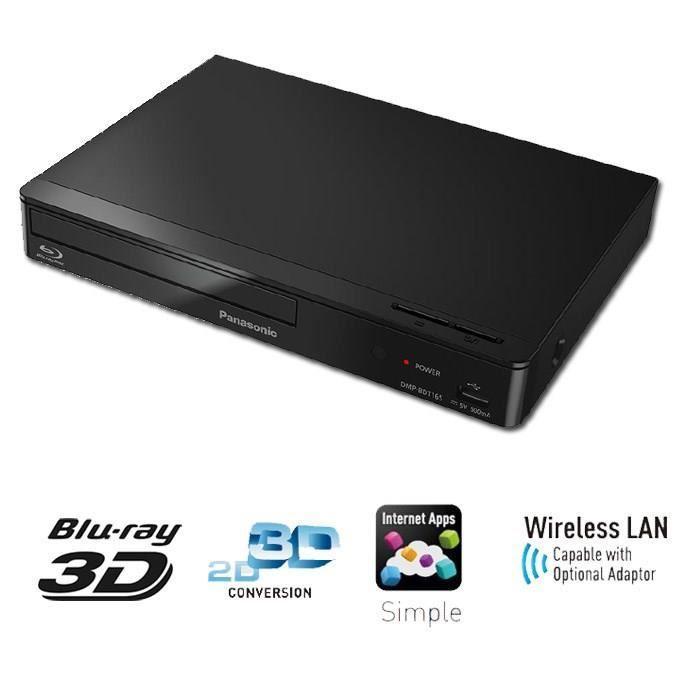 Lecteur Blu Ray 3D Panasonic DMP-BDT165-EF