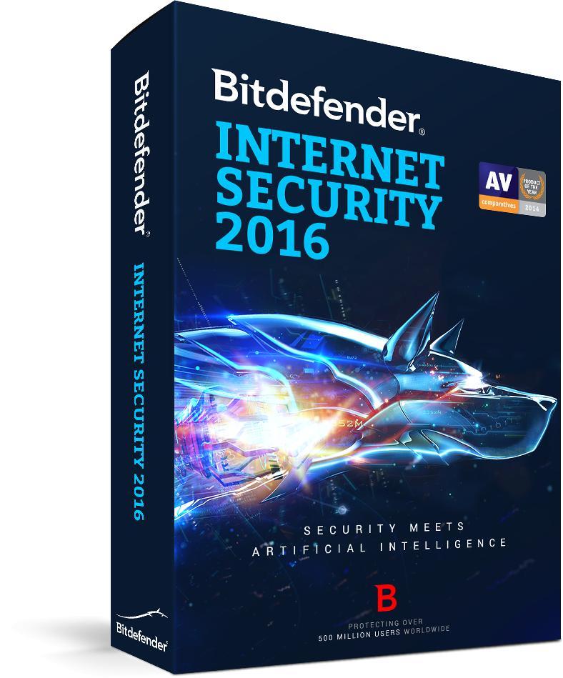 Antivirus PC - Bitdefender Internet Security 2016 (6mois) ou Total Security (3mois) Gratuit