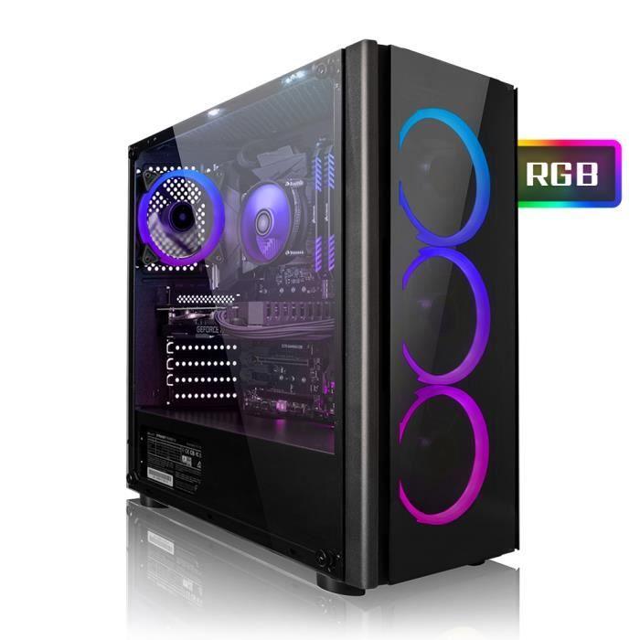 PC Gamer Megaport - AMD Ryzen 5 2600, GTX1060 - 6Go, 16 Go DDR4, SSD 256 Go + HDD 1 To, Windows 10 (vendeur tiers)