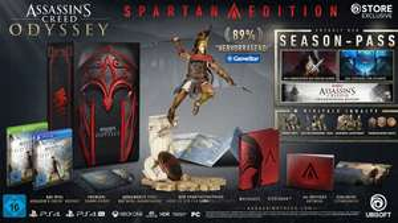 Jeu Assassin's Creed Odyssey Edition Spartan : Jeu de base + Season Pass + Pack Deluxe sur PS4