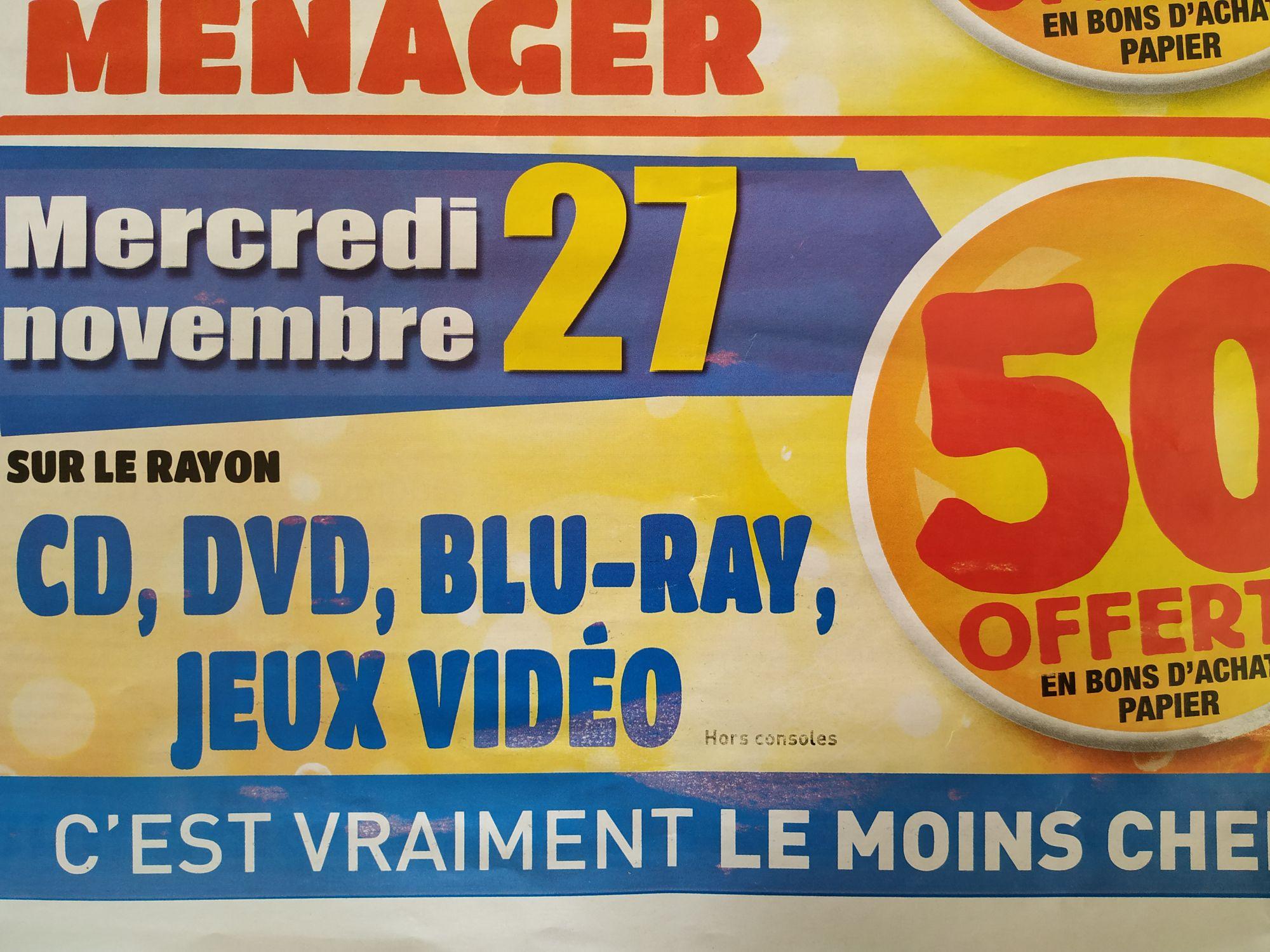 50% remboursés en bon d'achat sur divers rayons - Conflans-Sainte-Honorine (78)