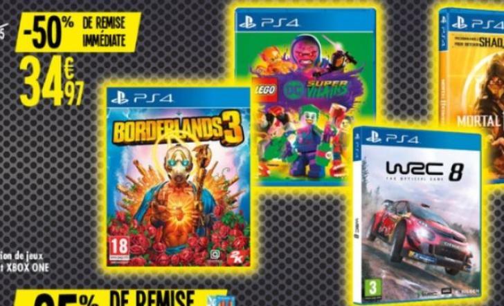 Sélection de jeux Xbox One et PS4 en promotion - Ex : WRC 8 sur PS4
