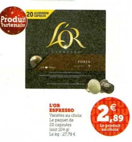 20 Capsules de café L'Or Espresso - Différentes variétés