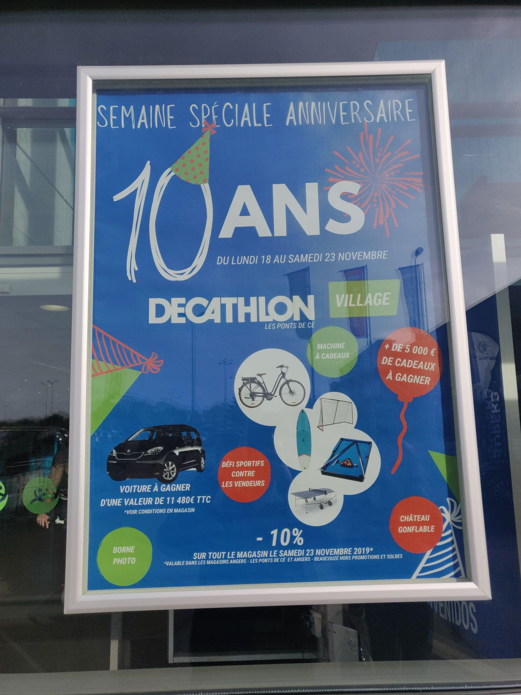 10% de réduction sur tout le magasin - Angers Les Ponts-de-Cé et Angers Beaucouzé (49)