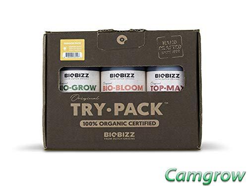 Pack intérieur d'engrais organiques Biobizz Try - 3 x 250ml