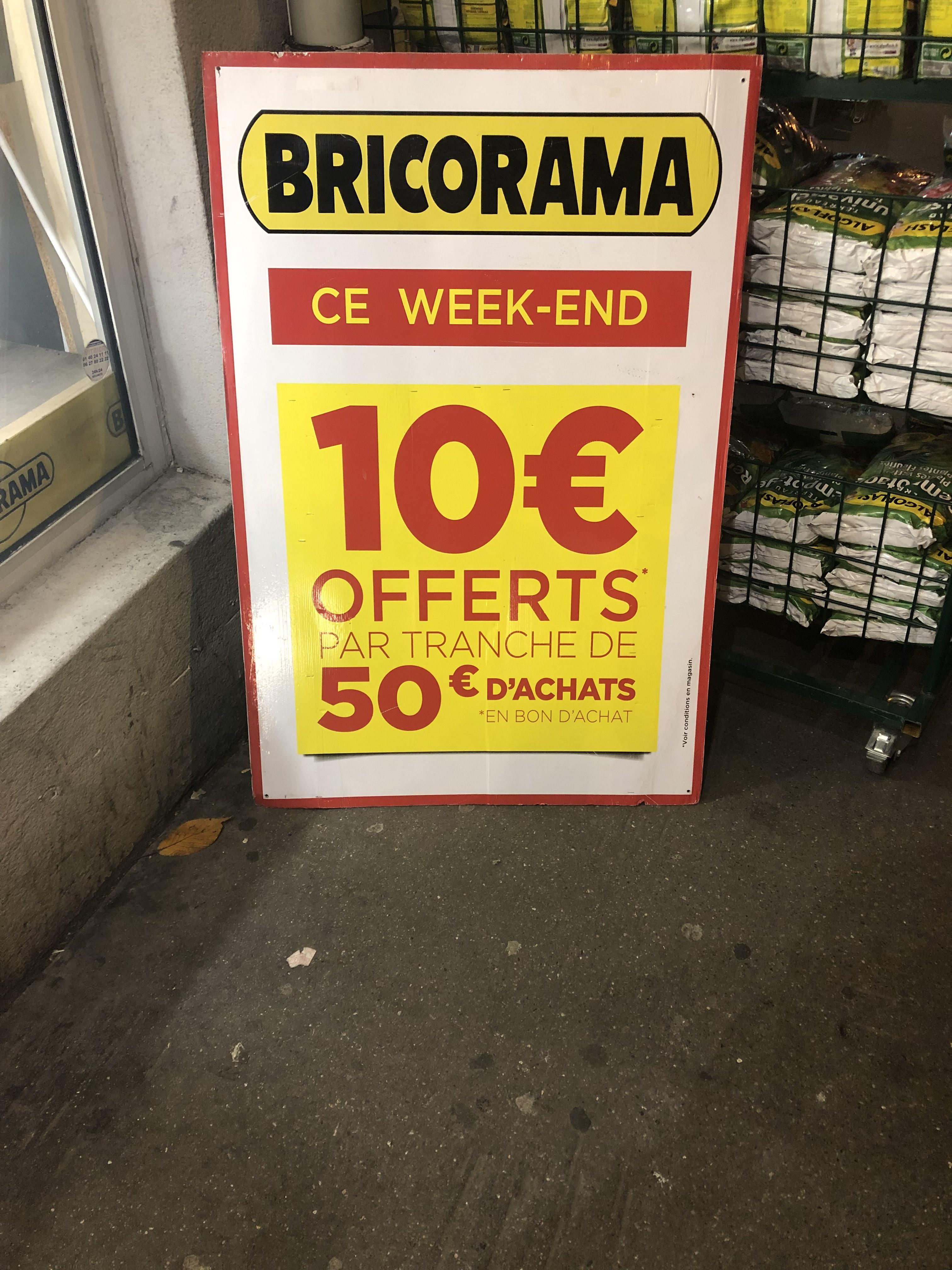 10€ offerts en bon d'achat tous les 50€ d'achat - Pantin (93)