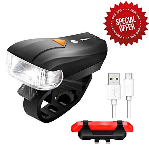 Sets d'éclairage avant et arrière rechargeable pour Vélo (Vendeur Tiers)