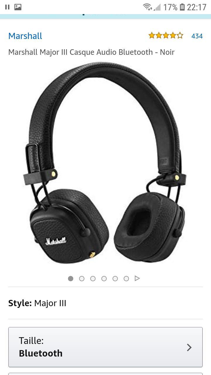 Casque sans fil Marshall Major III - Bluetooth , Noir