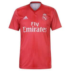 Maillot de football adidas Real Madrid 18/19 third - rouge (du XS au XXL)