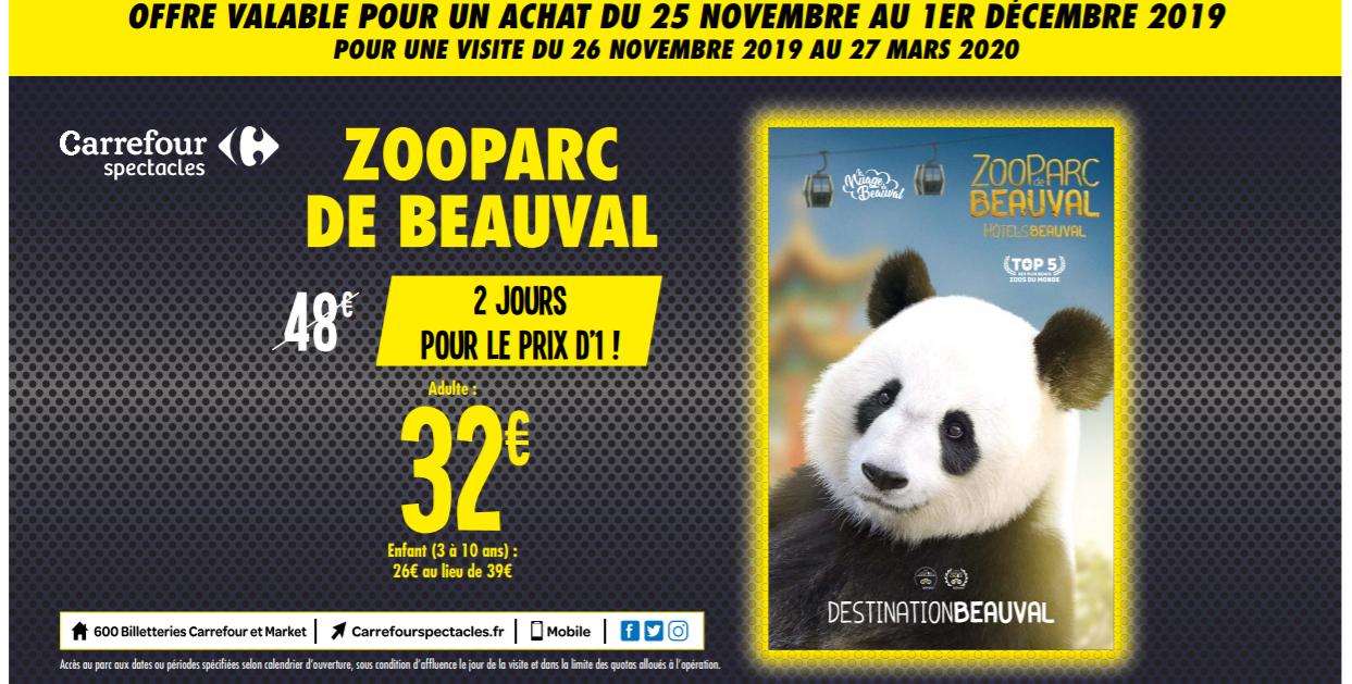 Billet 2 jours pour le ZooParc de Beauval - Adulte à 32€ ou Enfant de 3 à 10 ans à 26€ - Saint-Aignan (41)