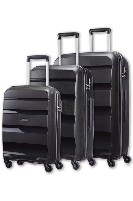 Set de 3 valises American Tourister Bon Air - 55, 66 et 75 cm, noir (AmericanTourister.fr)