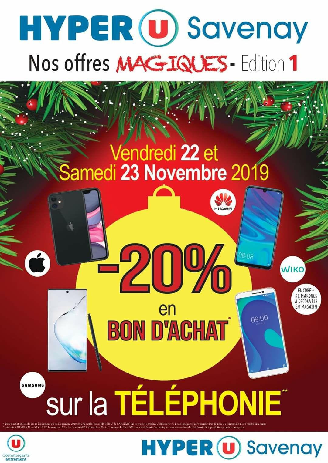 20% de réduction sur toute la téléphonie en un bon d'achat - Savenay (44)