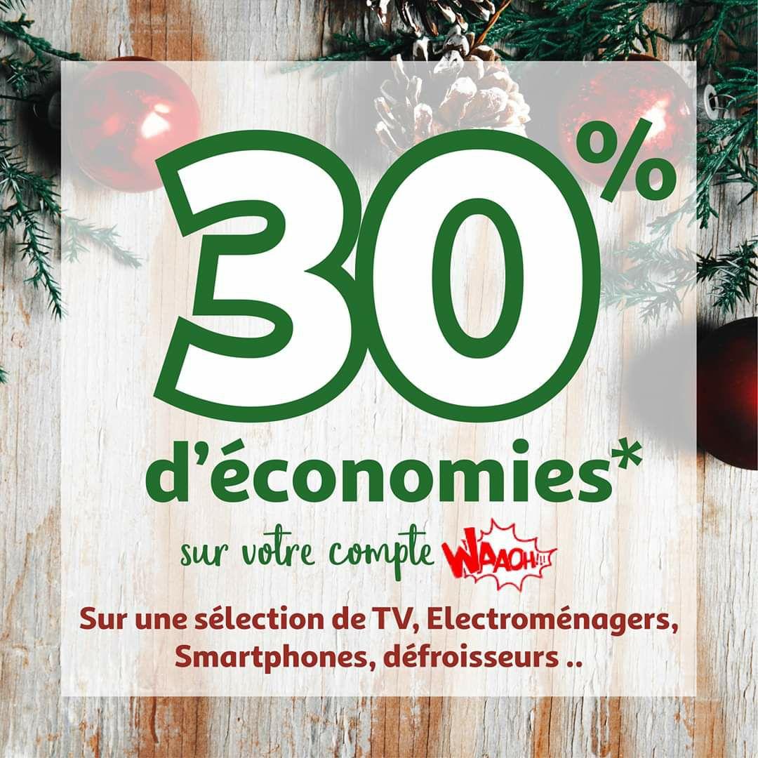 30% crédités sur le compte fidélité sur une sélection de produits - Saint-Priest (69)