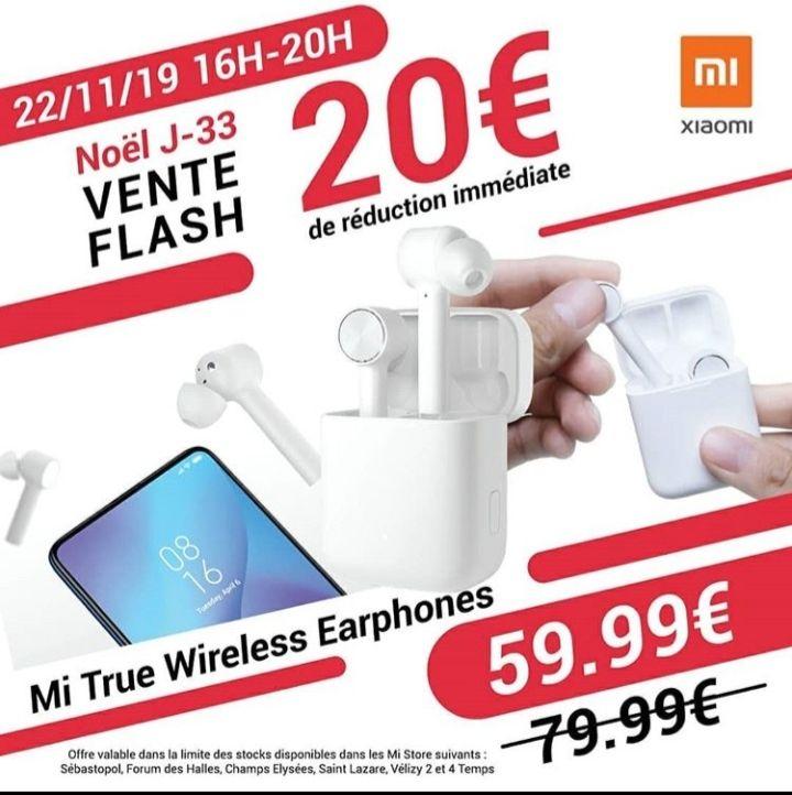 Ecouteurs bluetooth sans-fil Xiaomi Mi True Wireless - La Défense (92)