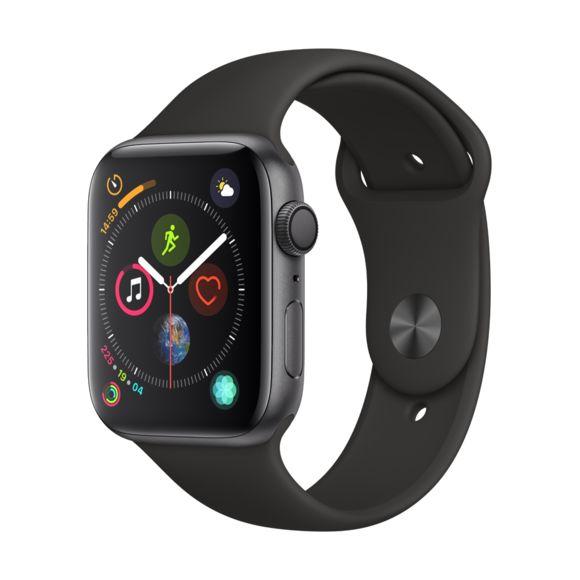 Montre connectée Apple Watch Series 4 GPS - 44 mm, bracelet Sport, gris sidéral (vendeur tiers)