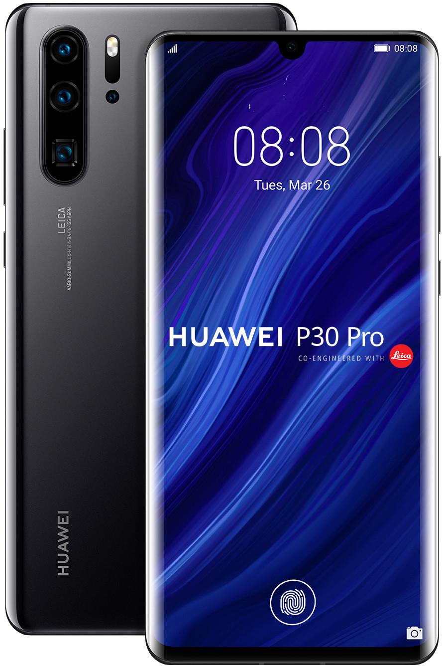 "Smartphone 6.47"" Huawei P30 Pro - full HD+, Kirin 980, 6 Go de RAM, 128 Go, noir (+ 27.94€ en SuperPoints)"