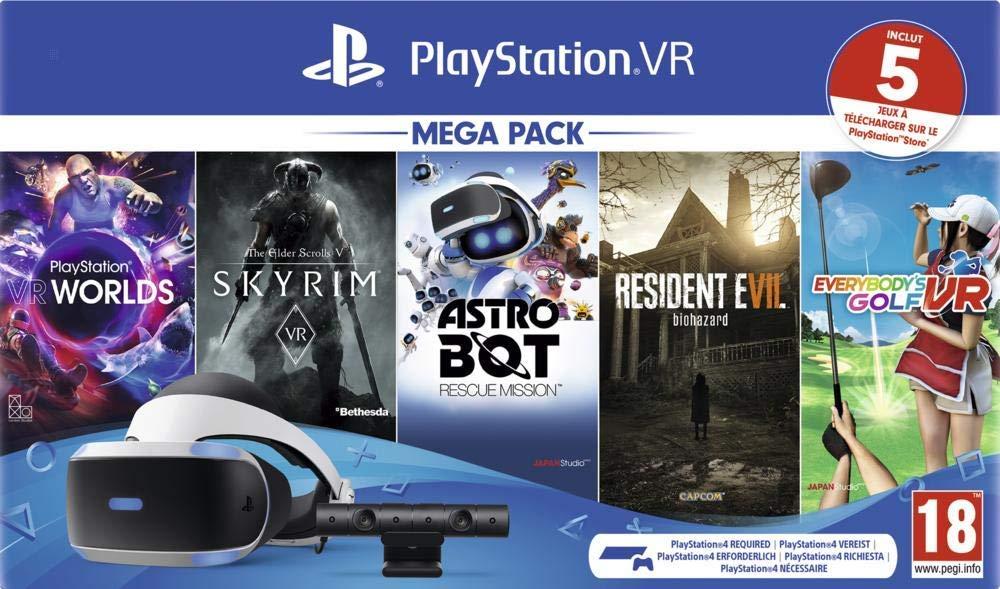 Méga Pack PlayStation VR V2 MK4 + Caméra + 5 Jeux