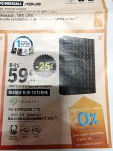 "Disque dur externe 2.5"" Seagate Expension - 2 To"