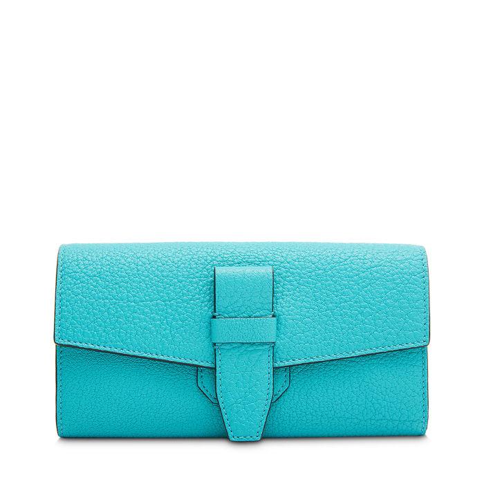 Petit sac à main Lancel Continental Depliant Charlie Cuir Buffle - bleu turquoise (TheVillageOutlet.com)