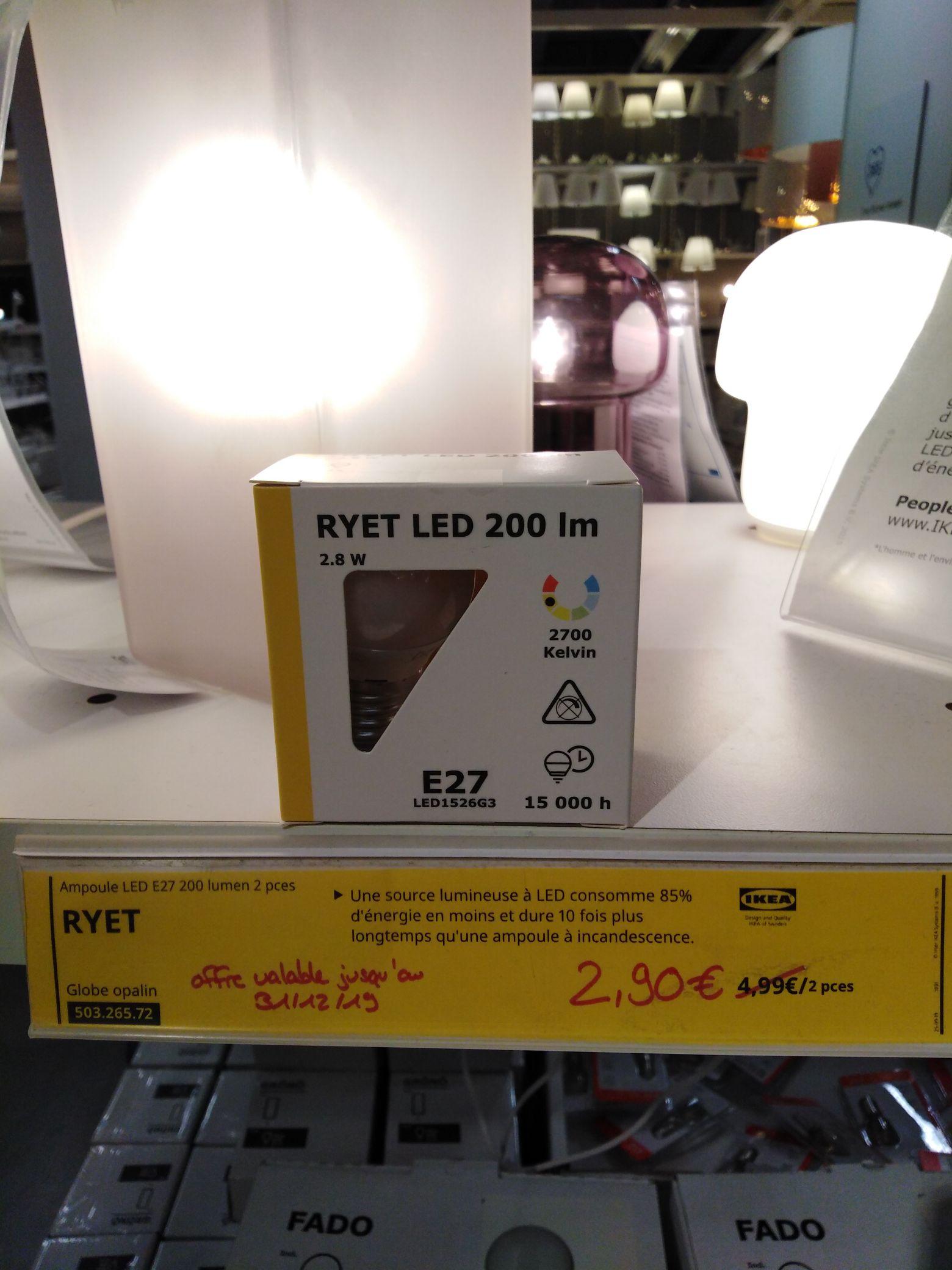 Lot de 2 Ampoules Ryet E27 - Vitrolle (13)