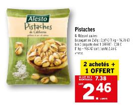 Lot de 3 paquets de pistaches de Californie - 3 x 250 g