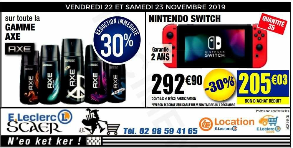 Console Nintendo Switch avec Joy-Con (via 87.87€ en bon d'achat) - Scaër (29)