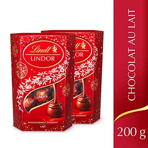 Lot de 2 Cornets Lindt Lindor Lait Edition de Noël - 2 x 200g
