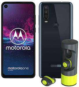 """Smartphone 6,3"""" Motorola One Action Dual SIM - RAM 4Go, 128Go, Android One + Ecouteurs ME offerts"""