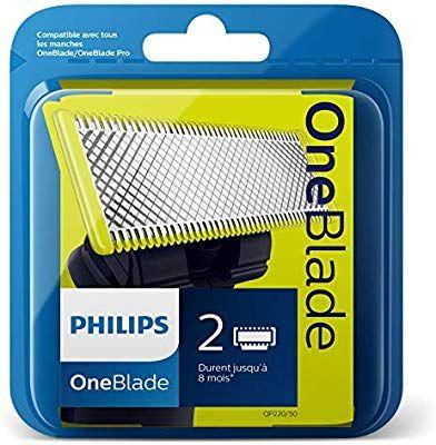 2 Lames de Remplacement OneBlade Philips QP220/50